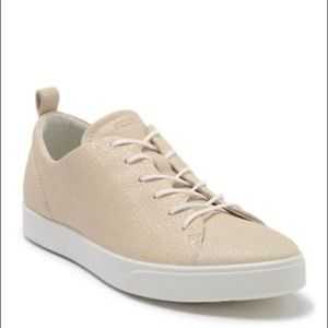 ECCO Gillian Trend Lace-up Texture Leather Sneaker